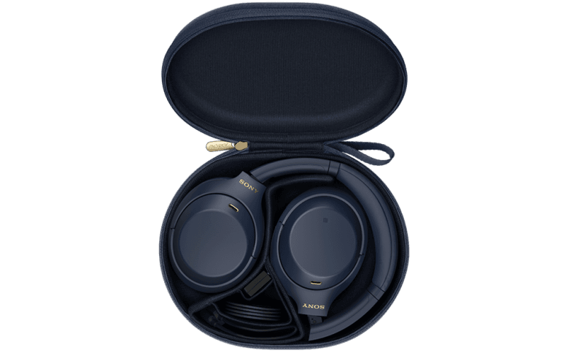 WH-1000XM4 headphones in carry case Midnight Blue
