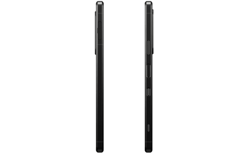 Side views of Xperia 1 III in frosted black