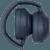 WH-1000XM4 headphones folded Midnight Blue